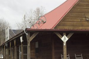 Bicycle Junction Damascus Virginia Roof Sign